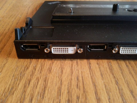 Mini Dock Plus Series 3 Closeup of DVI-D ports