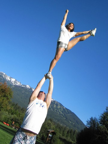 Stunting at the park in Whistler