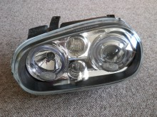 Headlight assembly on carpet