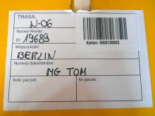 Shipping label showing the lights are from Berlin